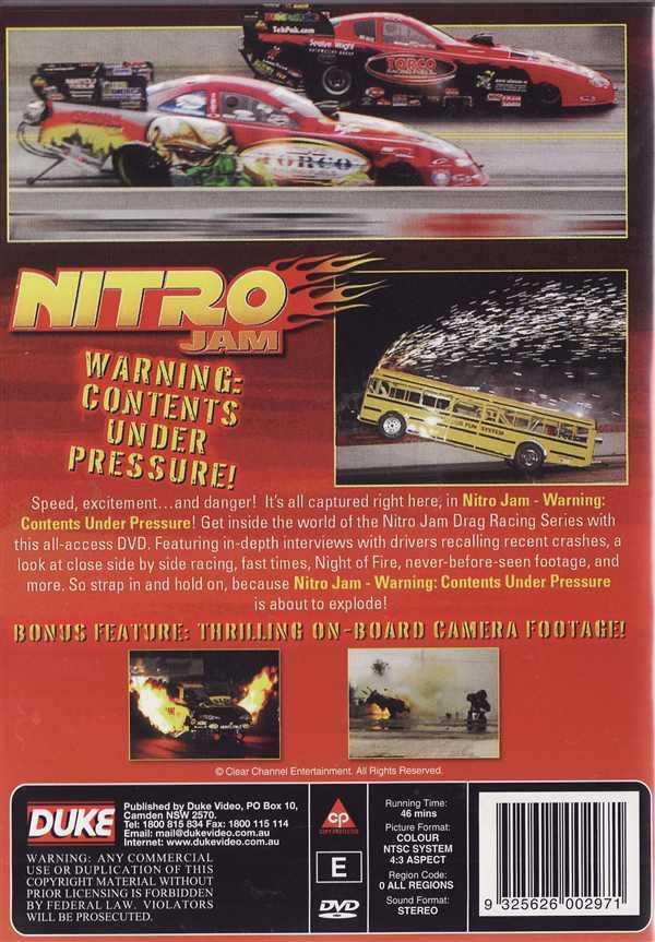 Contents Under Pressure: Nitro Jam Warning: Contents Under Pressere! DVD NEW